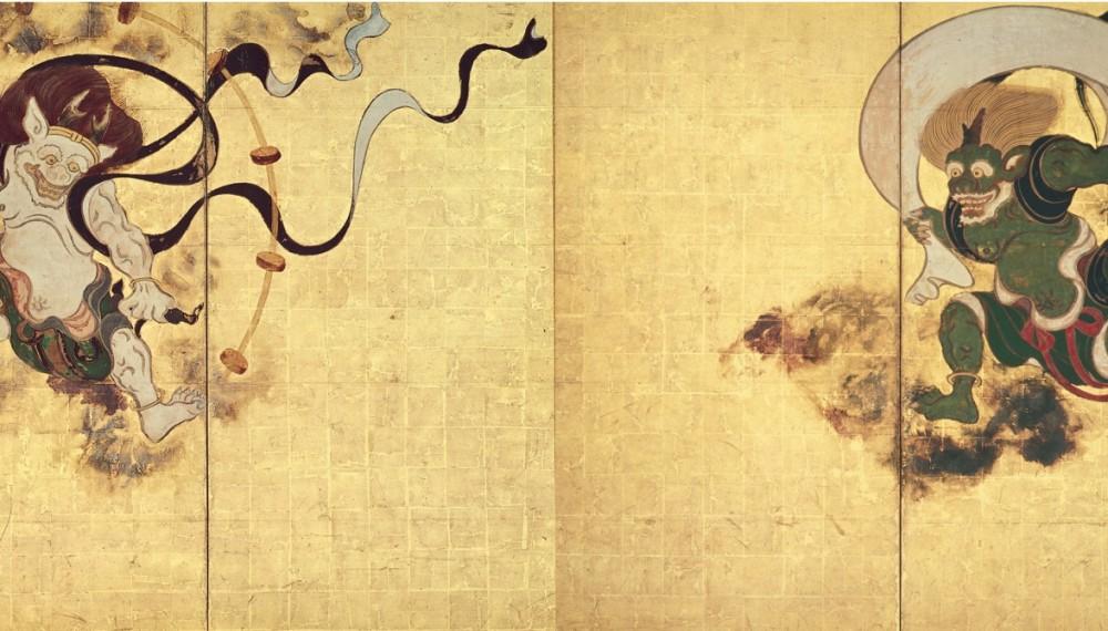ここまで同じ!でもこんなに違う!京琳派、江戸琳派の「風神雷神図」を比べてみました