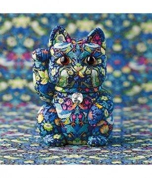 和樂×柿沼人形×リバティ 「Fortune Cat」