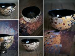 クリムトの美を抹茶碗に。妖艶、甘美、絢爛の5つの名作が誕生!