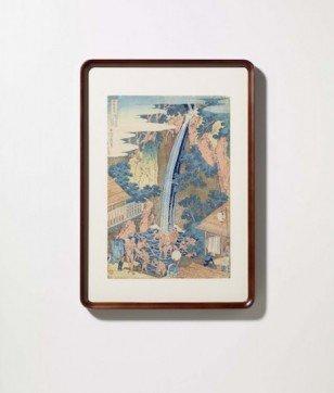 葛飾北斎作 浮世絵「諸国瀧巡り 相州大山ろうべんの滝」