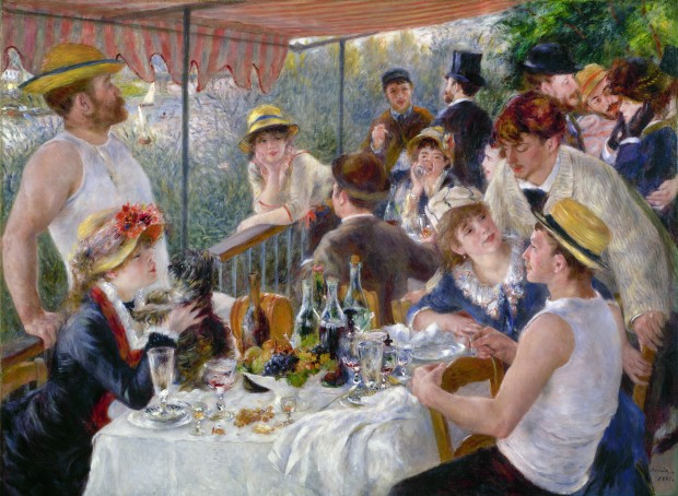 RENOIR: LUNCHEON, 1880-81.'Luncheon of the Boating Party.' Oil on canvas by Pierre-Auguste Renoir, 1880-81.