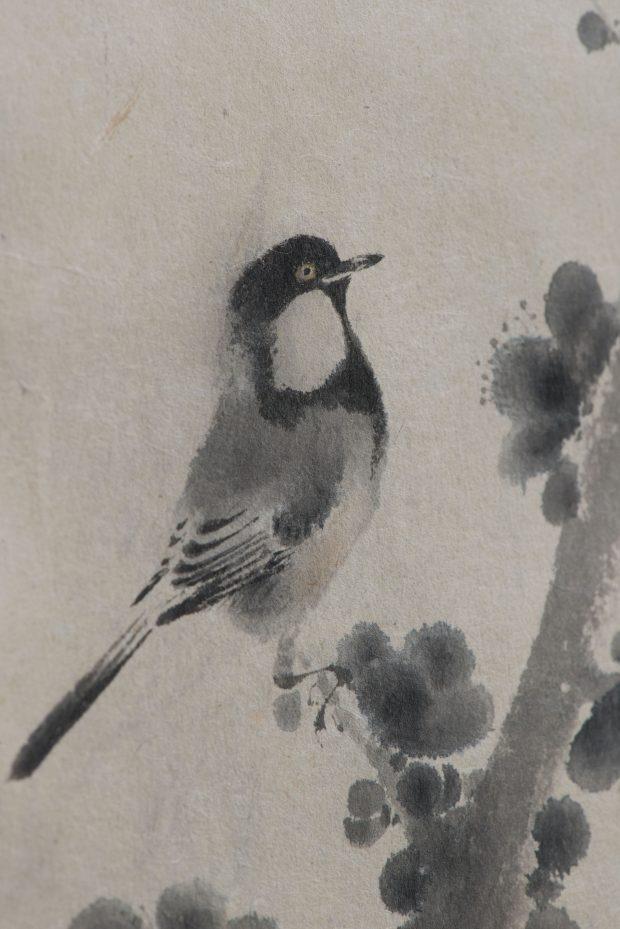 榊原紫峰「紅梅小禽」