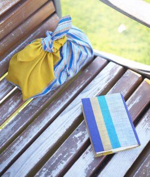 文庫本とランチを持ってどこへでも!「会津木綿の読書セット」