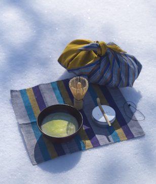 旅に、公園に、お花見に!和樂謹製「会津木綿の野点セット」が完成しました