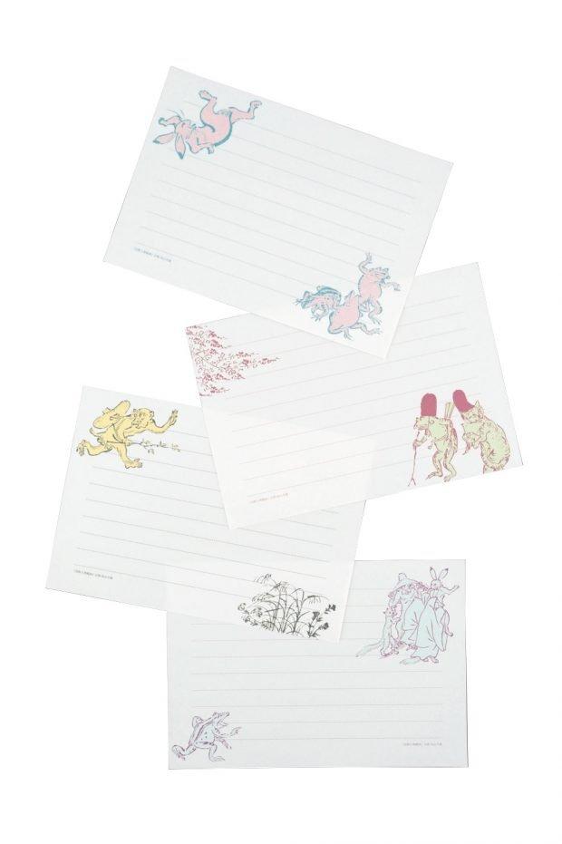 鳥獣人物戯画がモチーフ!4・5月号特別付録は「かわいい動物国宝ミニ便箋」