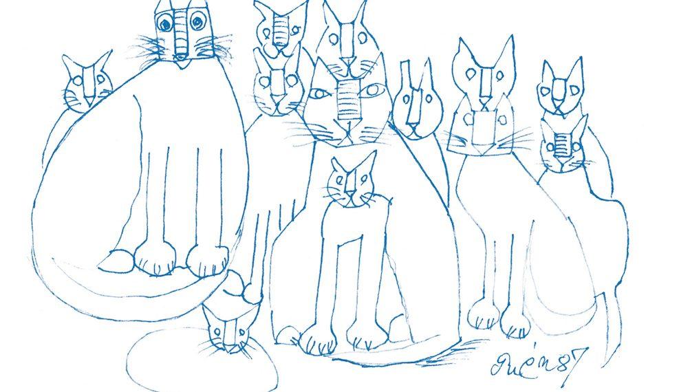 """猫、猫、猫の絵が大集合!""""かわいい""""好きなら見逃せない「猪熊弦一郎展 猫たち」"""
