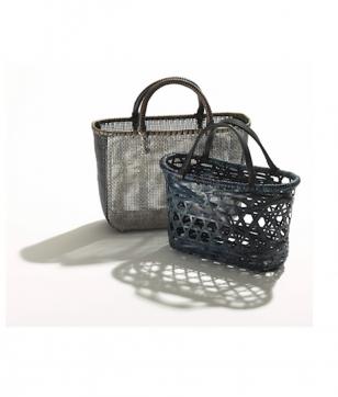 竹巧彩の「竹と籐の籠バッグ」