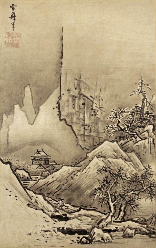 美しい景色に誘い込まれる。雪舟とモネの風景画