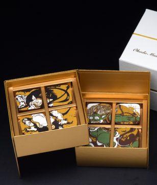 「風神・雷神図」の迫力がすごい…! 岡田美術館 名物チョコレートに新作登場