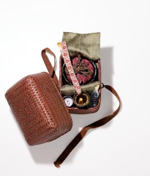 お茶時間を楽しくする! 極上の茶道具「竹片流網代編茶籠」