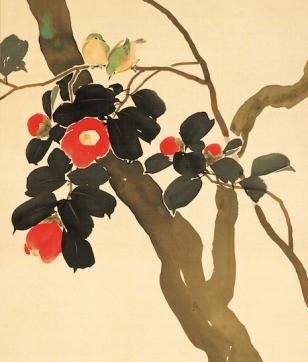 日本美術椿