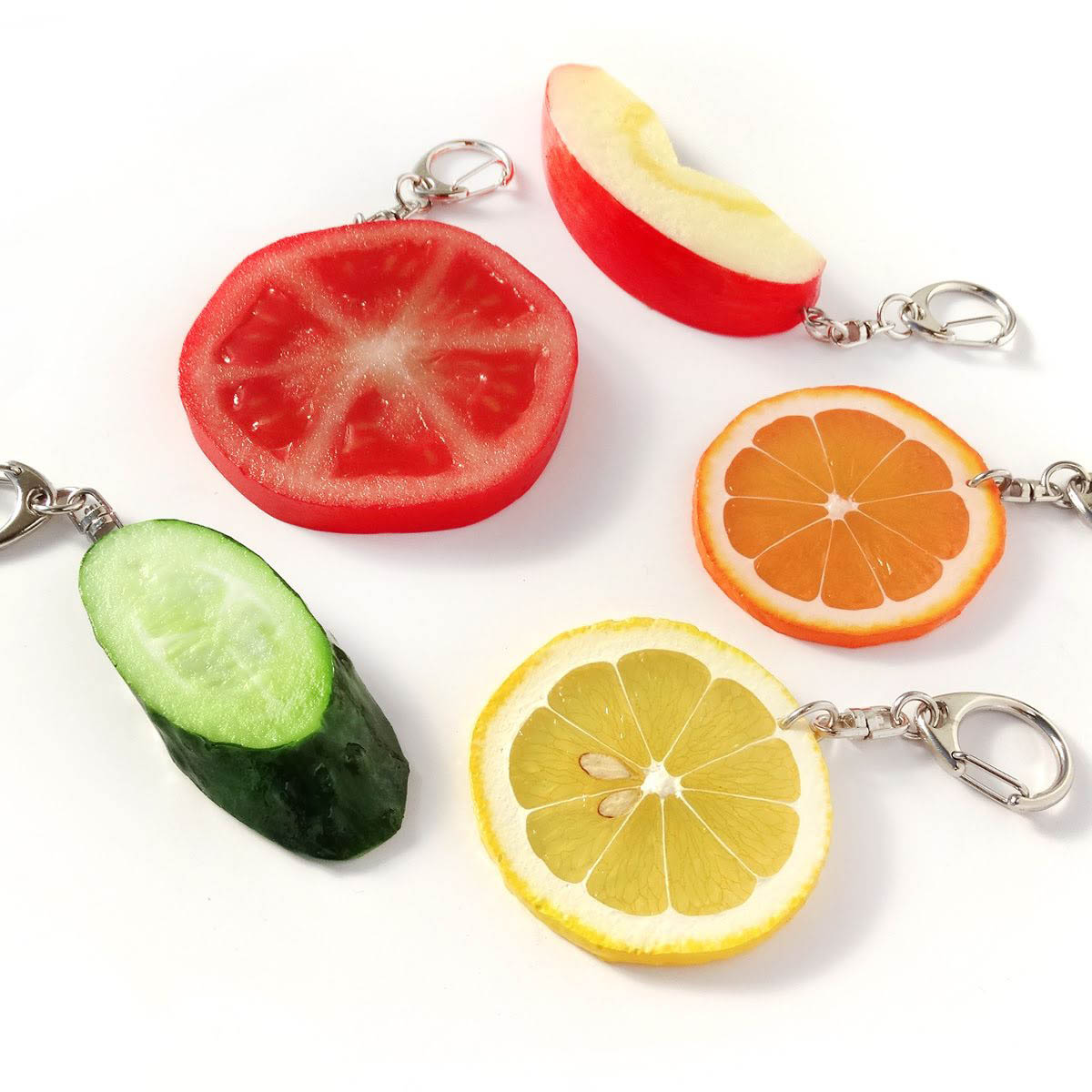 フルーツの食品サンプルで作ったキーリング