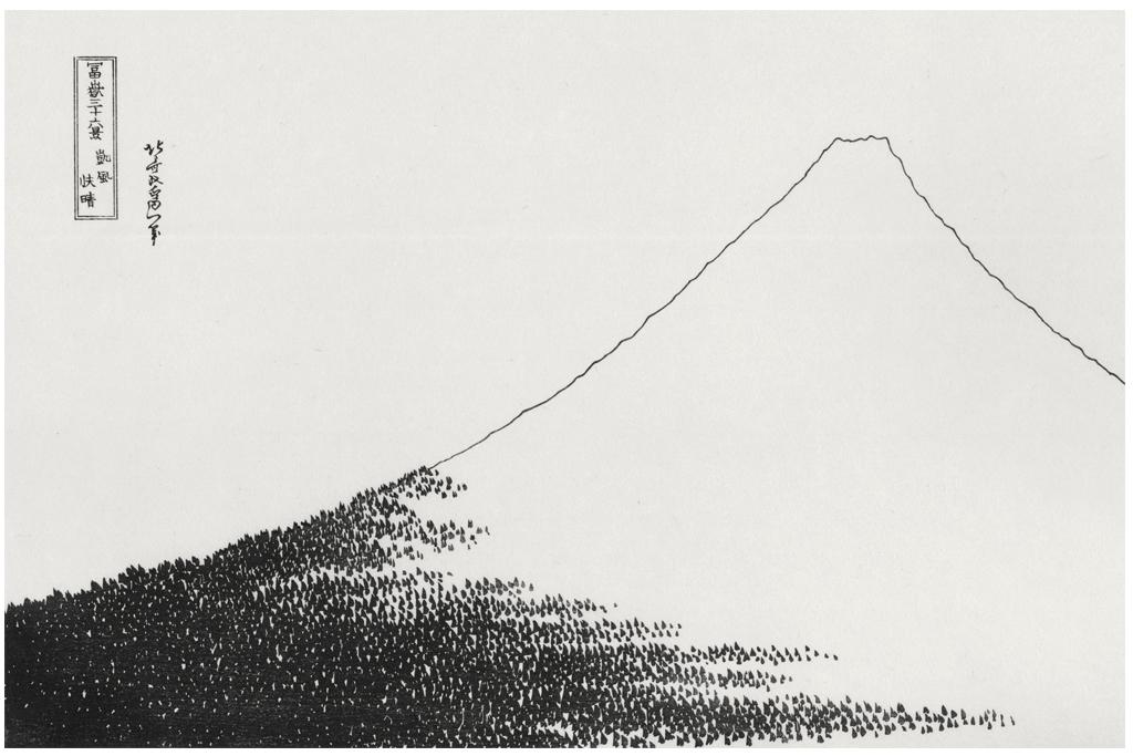 葛飾北斎「凱風快晴」の版下絵