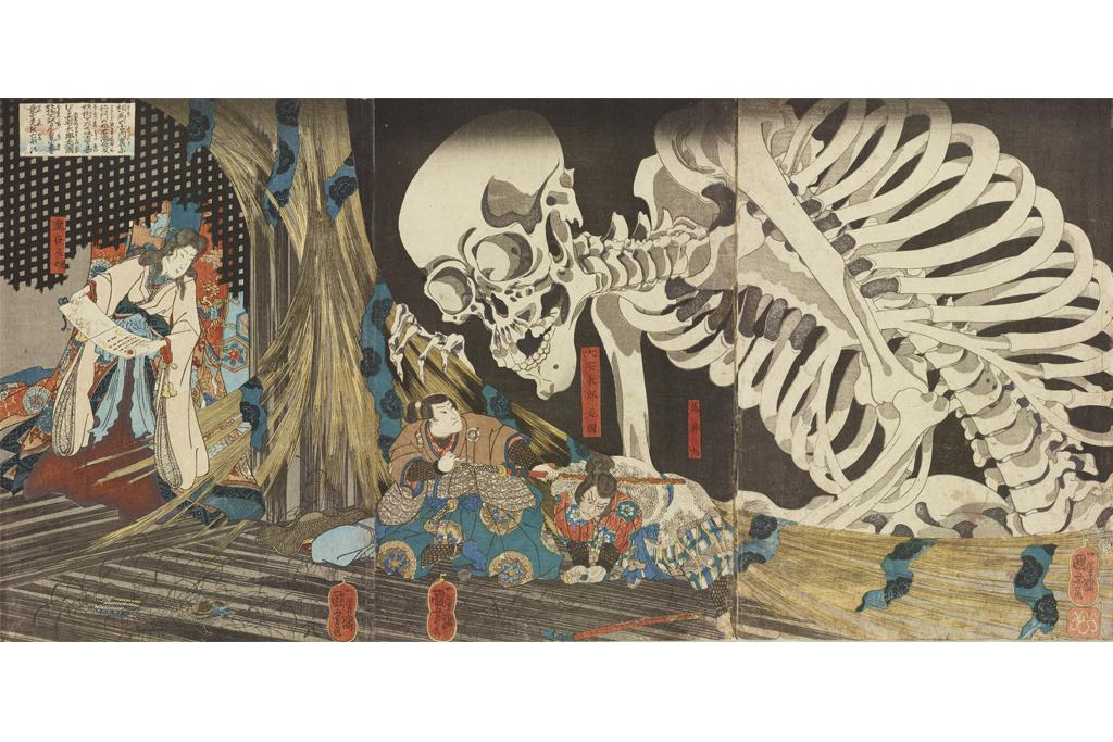 歌川国芳「相馬の古内裏」