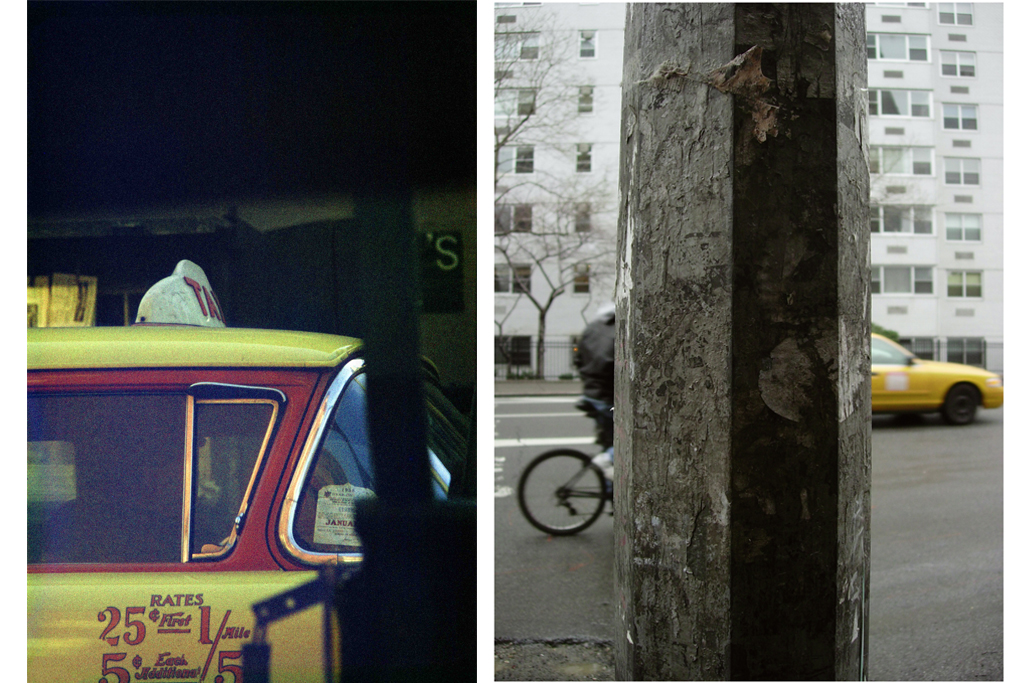 ソール・ライター《タクシー》《自転車》