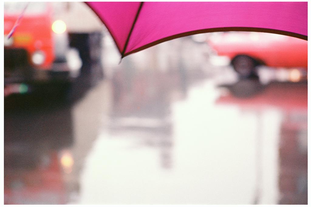 ソール・ライター《薄紅色の傘》
