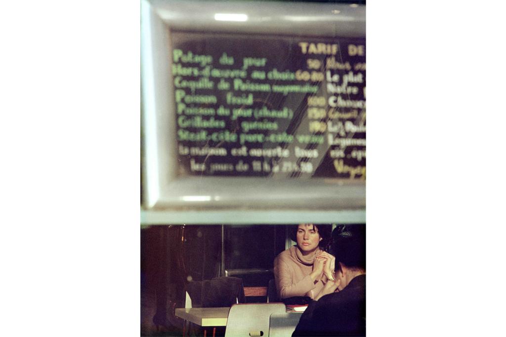 ソール・ライター《メニュー、パリ》