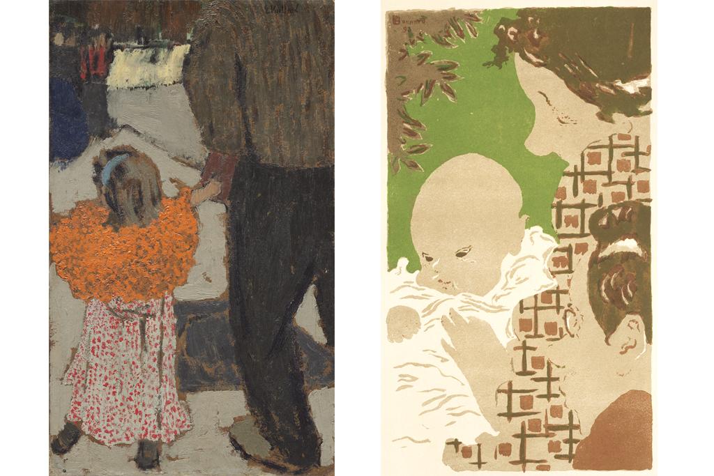 エドゥアール・ヴュイヤール《赤いスカーフの子ども》、ピエール・ボナール《家族の情景》