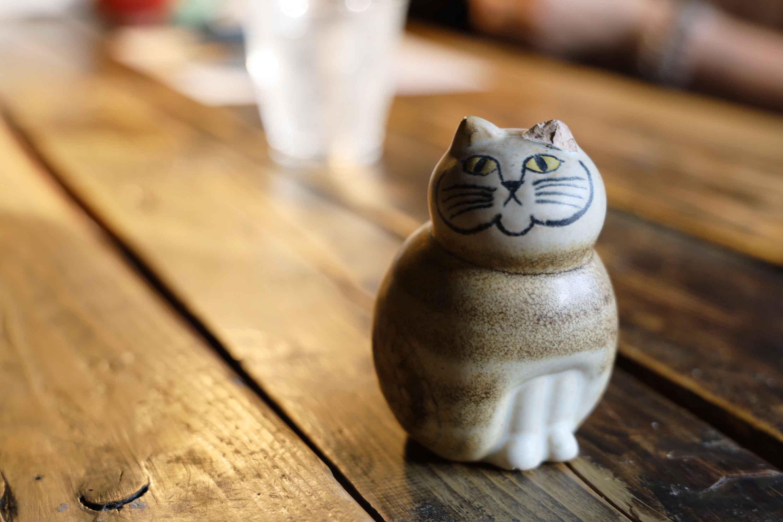 リサ・ラーソンのネコ。耳がかけてしまっていました