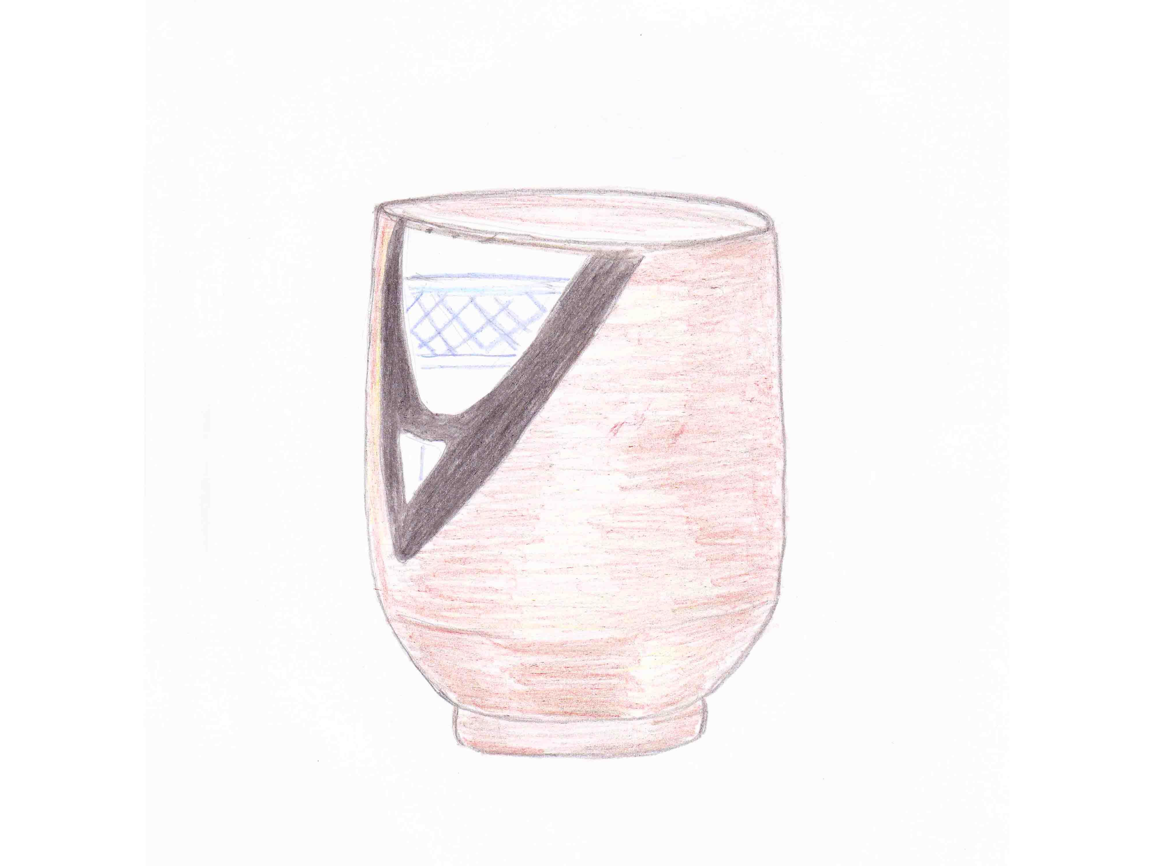 古瀬戸筒茶碗 銘「呼継」